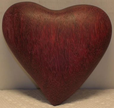 heartwood carved heart