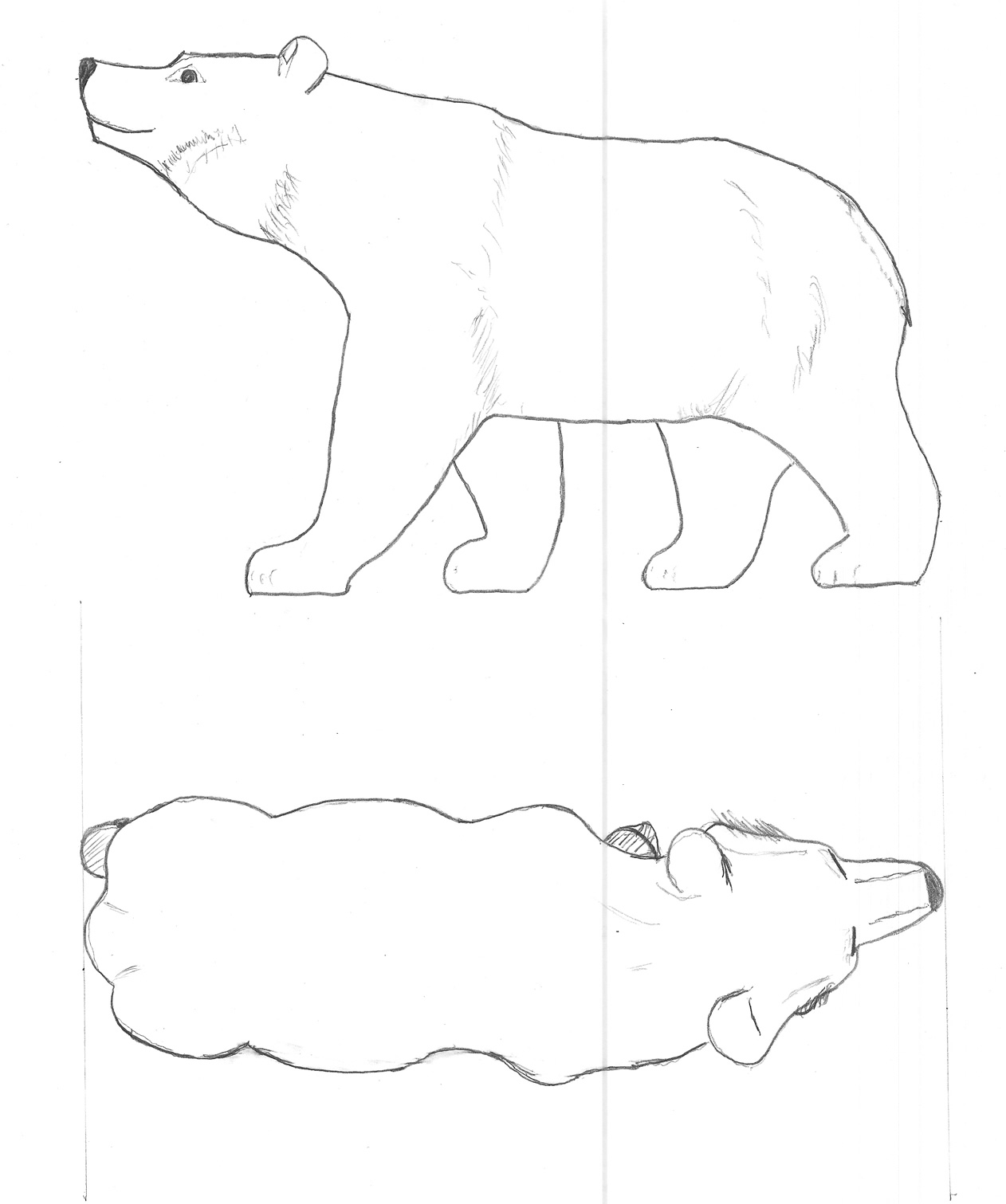 Bear Woodcarving Pattern | Wood Carving Designs