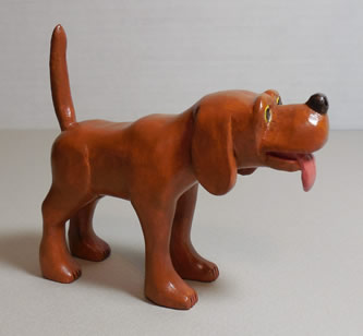 dog wood carving pattern