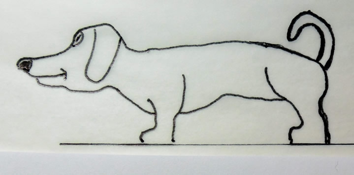 Dog woodcarving pattern