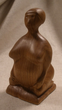 mother goddess wood carviing