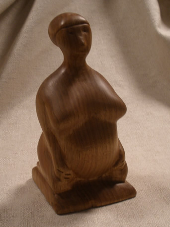 mother goddess wood carving